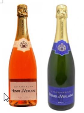 Champagner-Präsent Henry de Verlaine Blanc + RoseChampagner Henr
