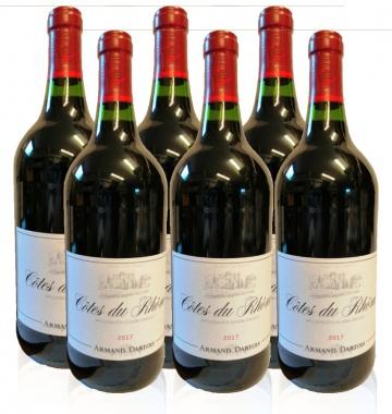 Armand Dartois Côtes du Rhône Rotwein 6 x1 L