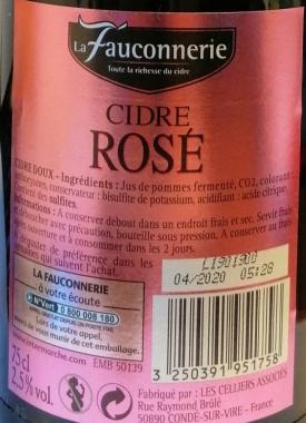 Cidre de Bretagne Rosé Doux La Fauconnerie Apfelwein Frankreich 6 x 0,75l