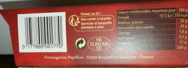 Papillon Roquefort AOP 125g