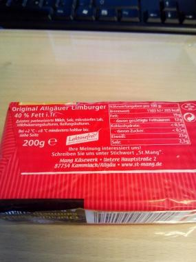 St. Mang Original Limburger 40 % Fett 200 gr