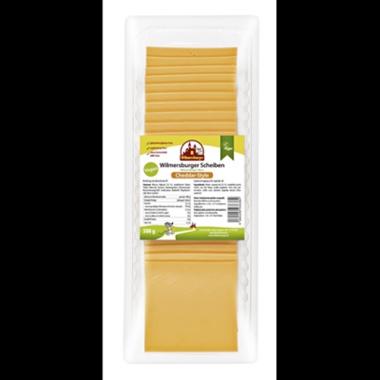 Wilmersburger Vegane Käsescheiben Cheddar Style 22 % Fett 500 g Packung
