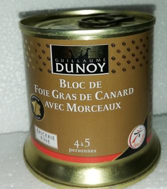 Bloc de foie gras de canard avec morceaux - Guillaume Dunoy 200g