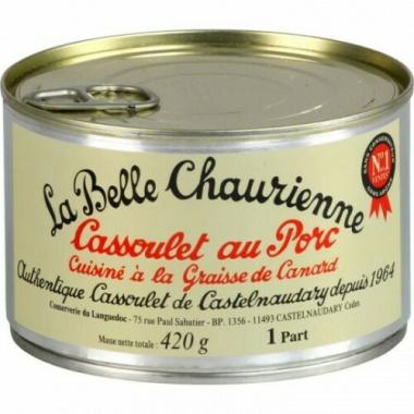 Cassoulet superieur au porc cusine a la graisse de canard 420gr Ringpull-Dose