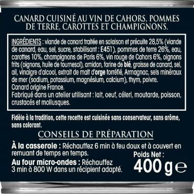 Bourguignon de Canard Vin de Cahors RAYNAL ET ROQUELAURE 400g