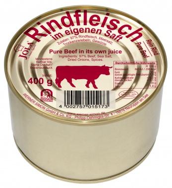 Jola Rindfleisch im eigenen Saft 97% pure Beef 400gr