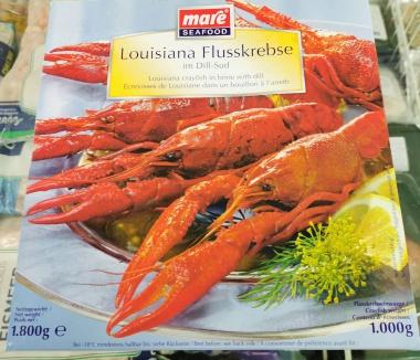 Louisiana Flusskrebse im Dill-Sud,Mare Seafood, tiefgefroren  1,8 kg Packung