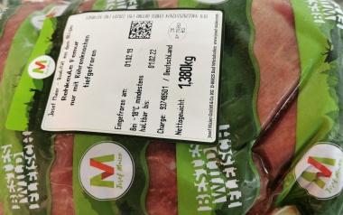 Reh-Keule tiefgefroren, ohne Knochen, ohne Beinfleisch,  aus Europe, vak.-verpackt ca. 1,4 kg
