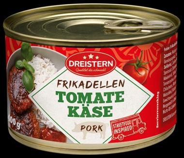 Zwei Frikadellen in Tomaten-Käse-Sauce(leicht angebraten) 1x400gr Ringpull-Dose