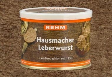 Hausmacher Leberwurst 200gr Ringpull-Dose mit wiederverschließbaren Plastikdeckel