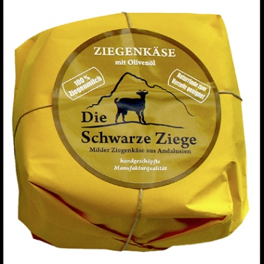 Schwarze Ziege Hartkäse Olivenöl 55 % Fett - 1 x 180 g Stück