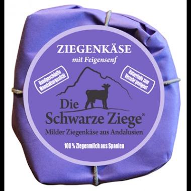 Schwarze Ziege Hartkäse Mit Feigensenf  - 180 g Stück