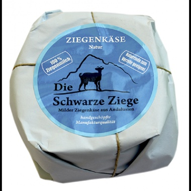 Schwarze Ziege Hartkäse Natur 52 % Fett - 1 x 180 g Stück