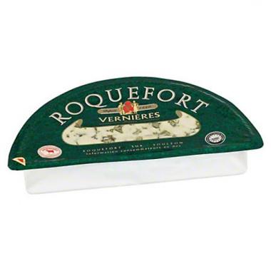 Vernières Frères Roquefort französischer Blauschimmelkäse, 52 %