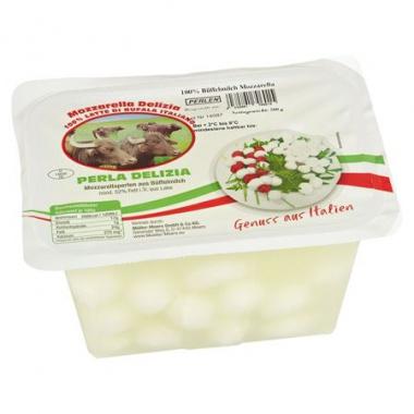 Perla Delizia Büffelmozzarellaperlen 52 % Fett i. Tr., 25 Stück