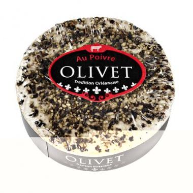 Olivet Poivre französischer Weichkäse mit Pfeffer bedeckt, 45% F