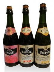 Cidre de Bretagne - Probierpaket- 3 Sorten- Apfelwein Frankreich-Top-Präsent!!!