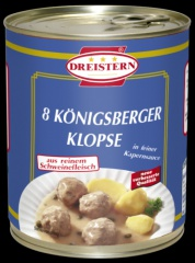 DREISTERN  – 8 Königsberger Klopse - Ringpull 800gr Dose