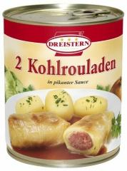 2 Kohlrouladen mit feiner Fleischfüllung in pikanter Sauce 800gr Ring-Pulldose