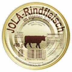 Jola-Rindfleisch im eigenen Saft mit Schweineschwarten 400gr Dose