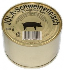Jola Schweinfleisch im eigenen Saft 95% 400gr -Dose