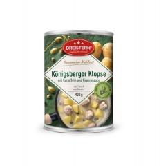 Dreistern Hausmachermahlzeit Königsberger Klopse mit Kartoffeln+Kapernsoße 400gr Dose