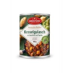 Dreistern Hausmachermahlzeit Kesselgulasch mit Kartoffeln+Paprika 400gr Dose
