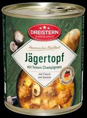 Dreistern Jägertopf - Fleischbällchen in Jägersauce mit Kartoffeln 800gr Dose