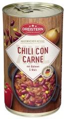 Dreistern Chili con Carne mit Schweinehackfleisch XXL 1200g (Ringpull Dose)