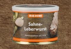 Hausmacher Sahne Leberwurst  200gr Ringpull-Dose mit wiederverschließbaren Plastikdeckel