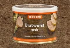 Hausmacher Bratwurst grob 200gr Ringpull-Dose mit wiederverschließbaren Plastikdeckel