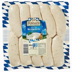 Ponnath Münchner Weißwürste gebrüht, 10 Stück à 60g ca 600 g