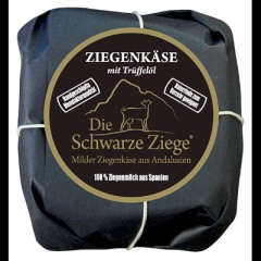 Schwarze Ziege Hartkäse mit Trueffeloel 0,55 - 180 g Stück