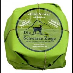 Schwarze Ziege Hartkäse Kräuter 55 % Fett - 1 x 180 g Stück