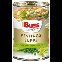 Buss Festtagsuppe mit Fleischklößchen+Eierstich 3x400gr Dose Ringpull