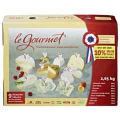 Le Gourmet Französisches Weichkäsesortiment ca 2,65 kg Karton